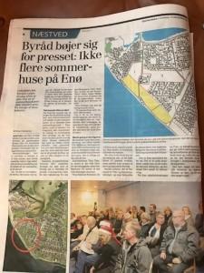 Ikke flere sommerhuse på Enø